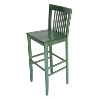 Constance Wood Bar stool in Green - Restaurant Furniture ...