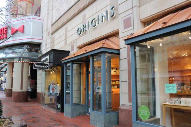 Cosmetics Store Origins to Close Its Reston Town Center Location