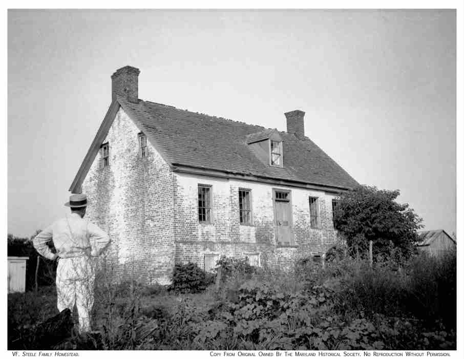 "Photograph of Handsell taken about 1920, labelled as ""Steele Family Homestead""."