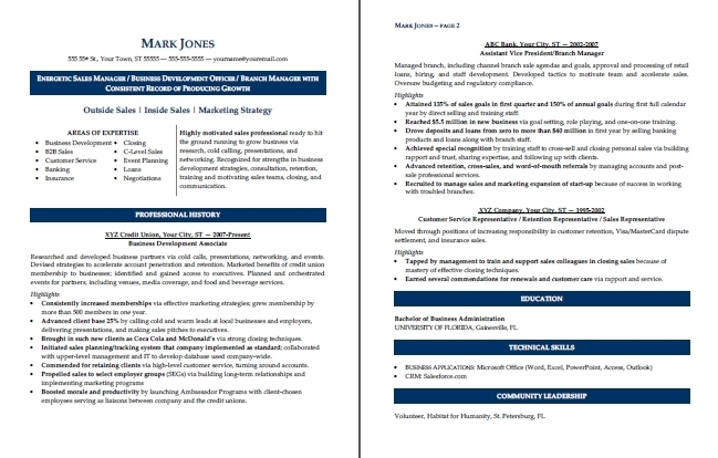 Sample Resume (Sales Manager) - resume sales manager