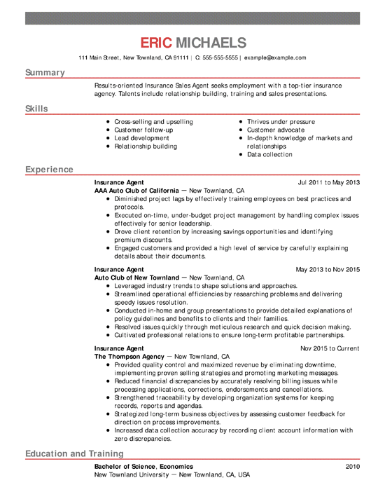 include job title in resume