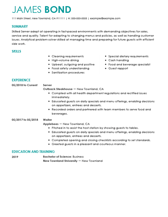 example summaries of resume