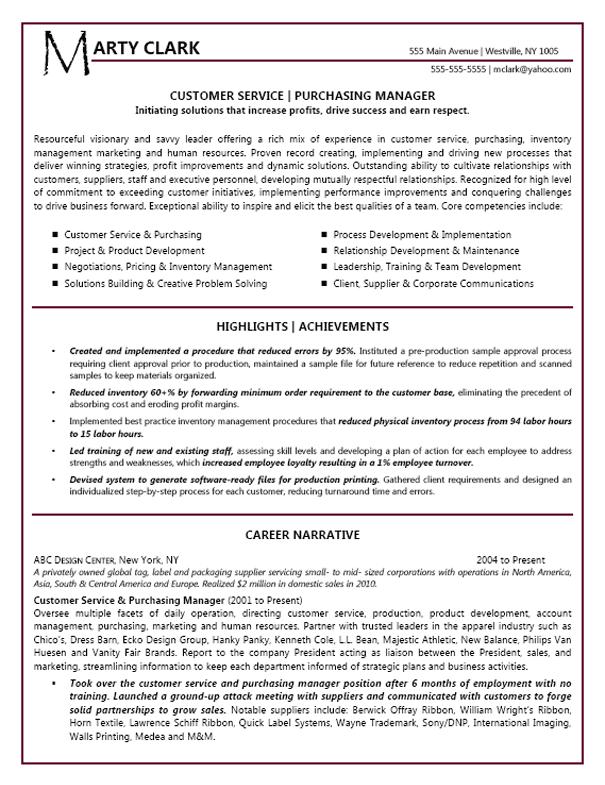 resume headline for customer service manager