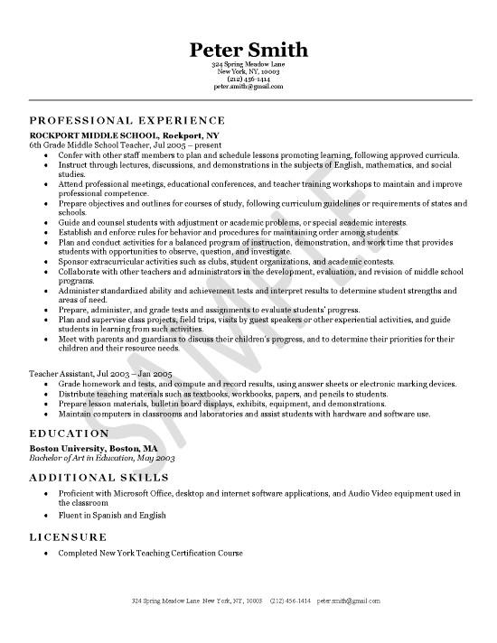 High School Resume Example Resume Badak - middle school resume