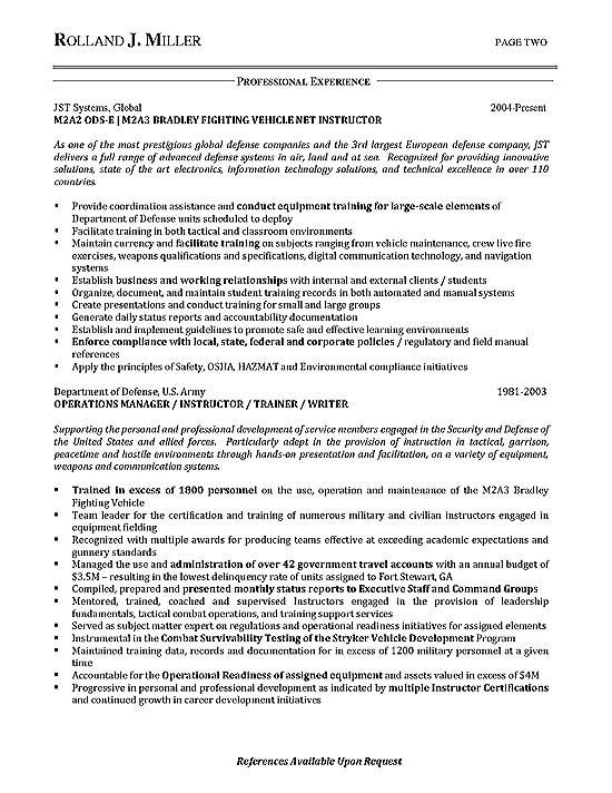 military project management resume examples
