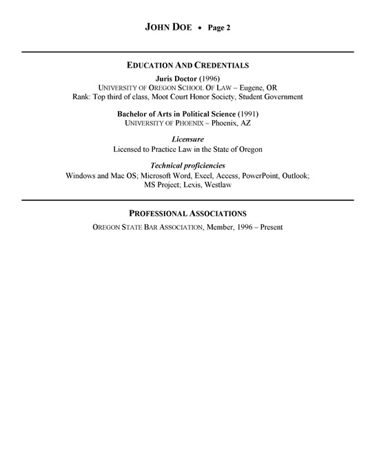 Health Care Attorney Sample Resume Attorney Resume Example - sample attorney resume