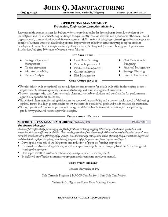 sample production manager resume sample production manager resume