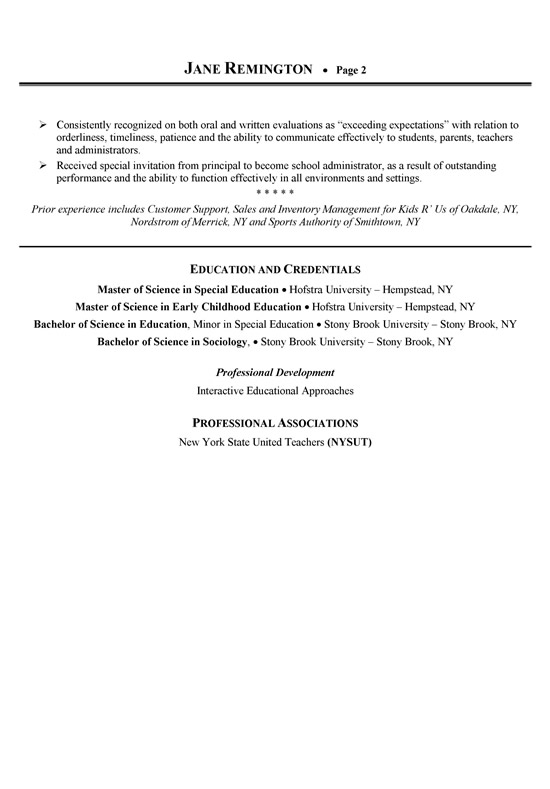 time management examples for resume