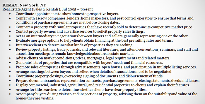 Real Estate Agent Resume Example - Sample - real estate resume examples