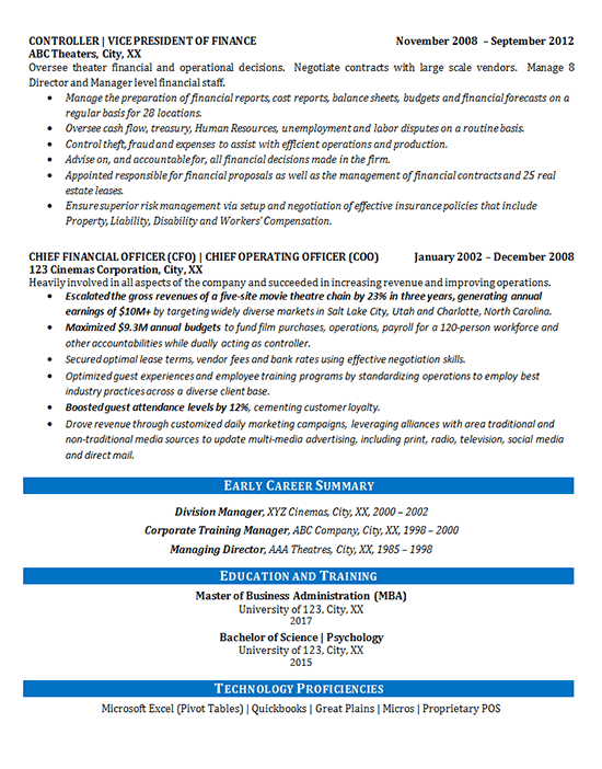 early career resume examples