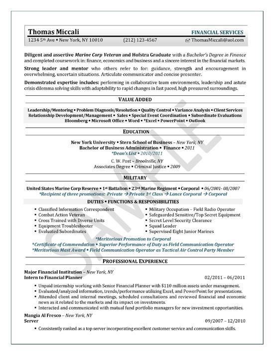resume accounting internship