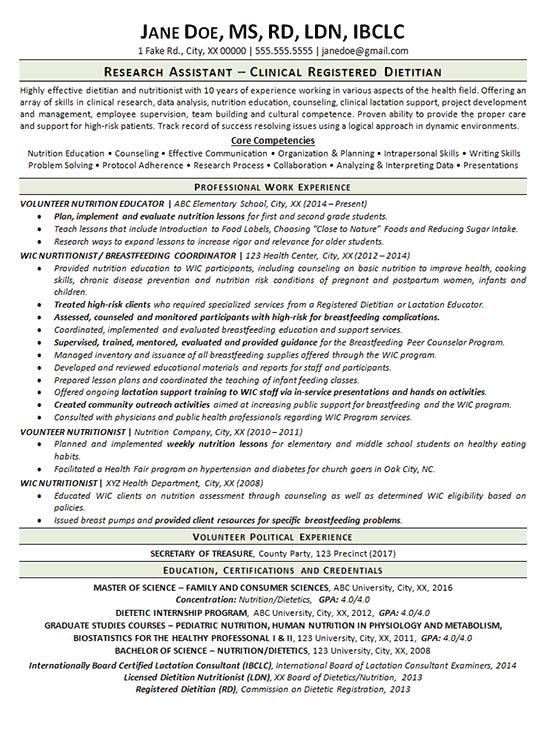 resume template volunteer