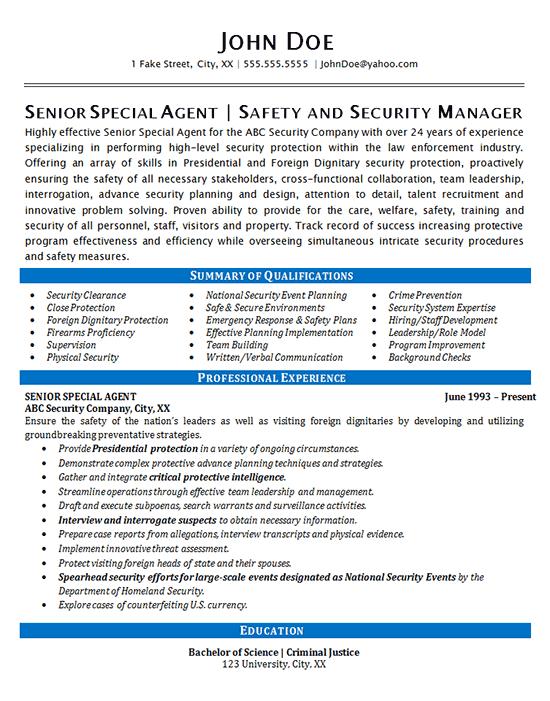 model resume career