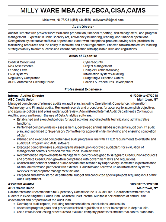 resume sample for attorney