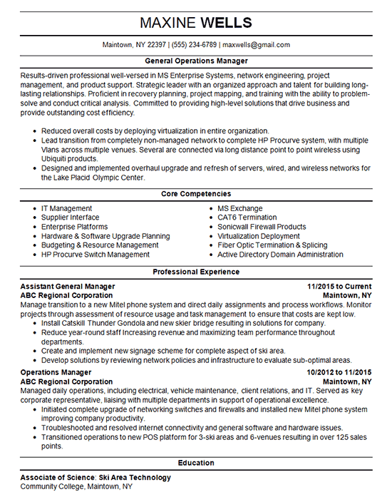 sample resume for medical manager