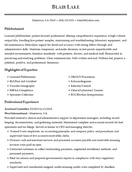 sections for resume