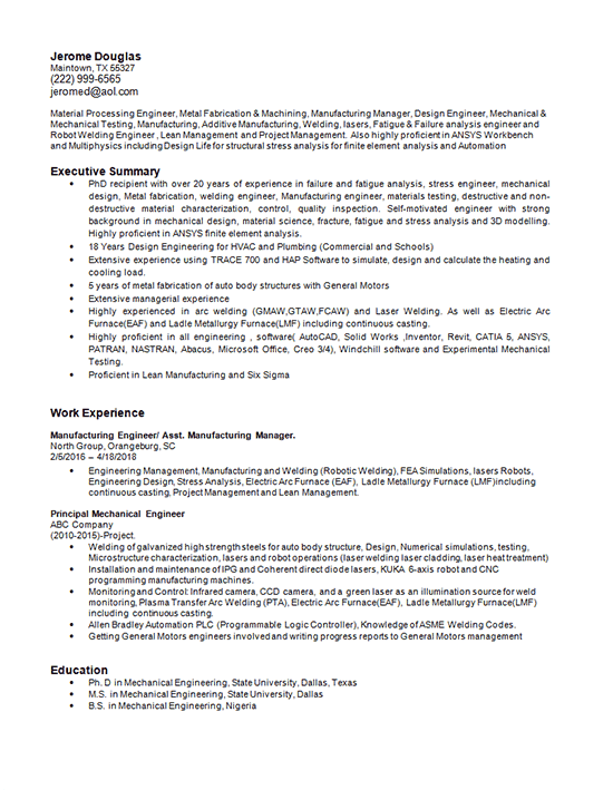 example cover letter for engineering