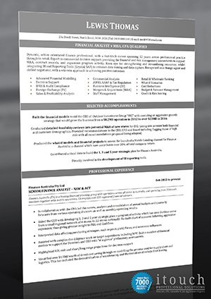 itouch professional solutions - resume writer experts - photo on resume