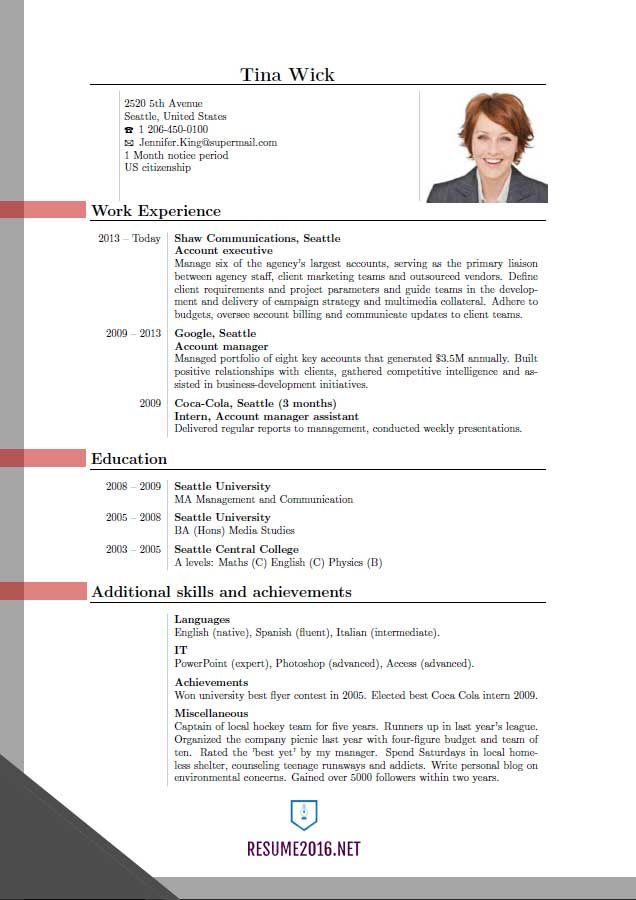 Resume updates for 2012