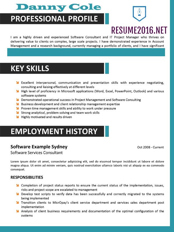 How Should A Resume Be Formatted - Unitedijawstates