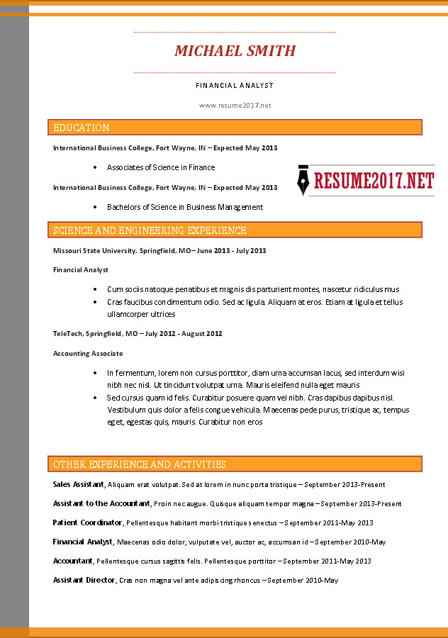functional chronological combination resume examples