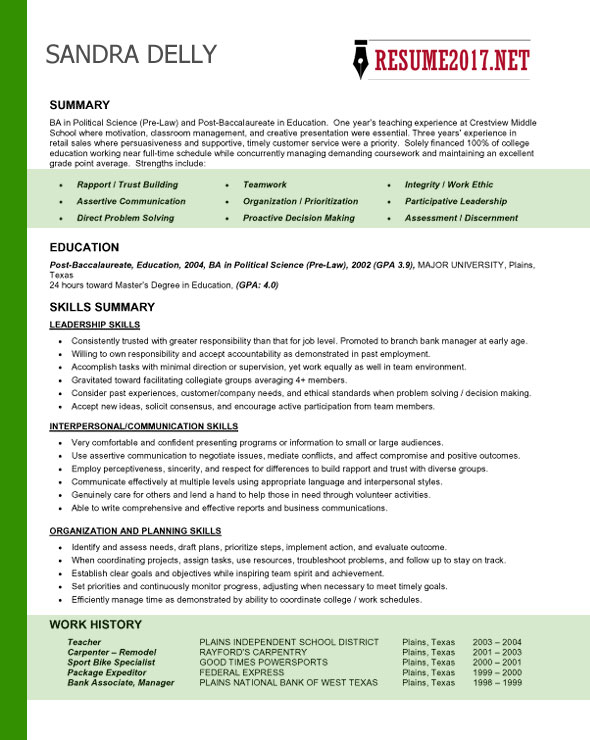 Style Sheet for Term Papers (5th ed, 2013) college resume format - post college resume