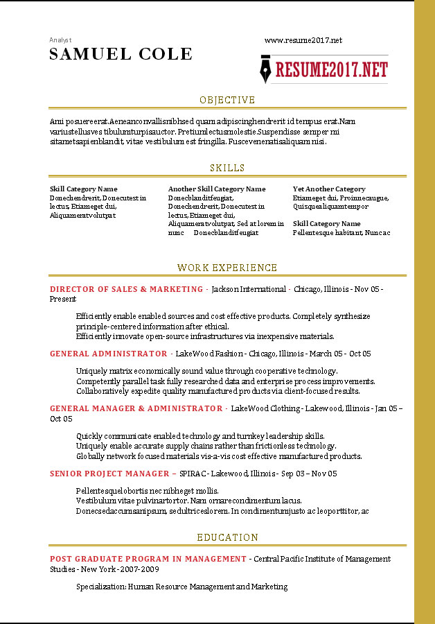FREE RESUME TEMPLATES 2017 \u2022 - Effective Resume Templates