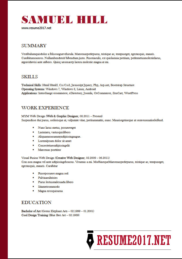 examples of functional resumes 2018
