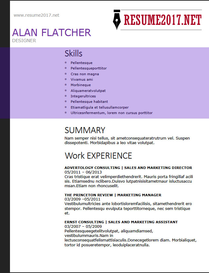 RESUME FORMAT 2018 - 16 Latest Templates in WORD - resume functional summary examples