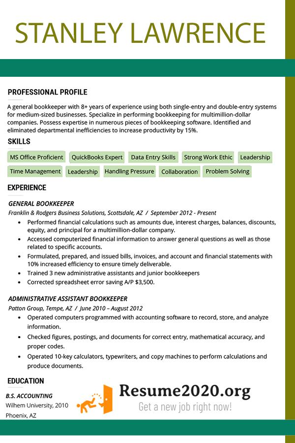 new resume formats