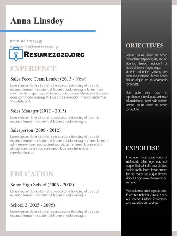 what is a good resume template to use