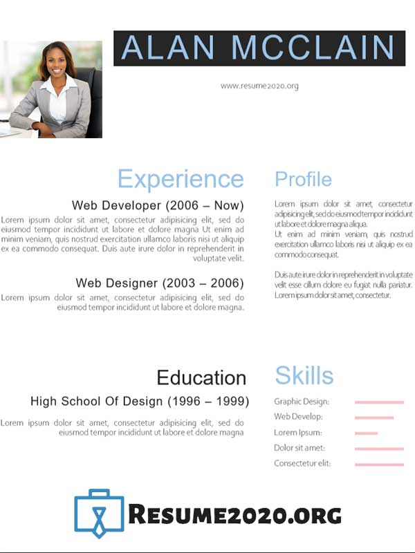 creative professional cv template free