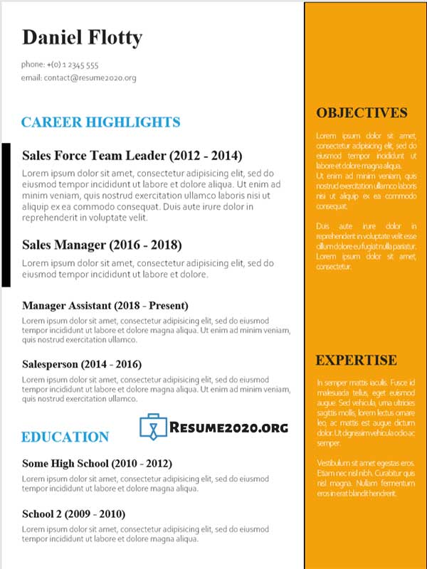 resume to get work
