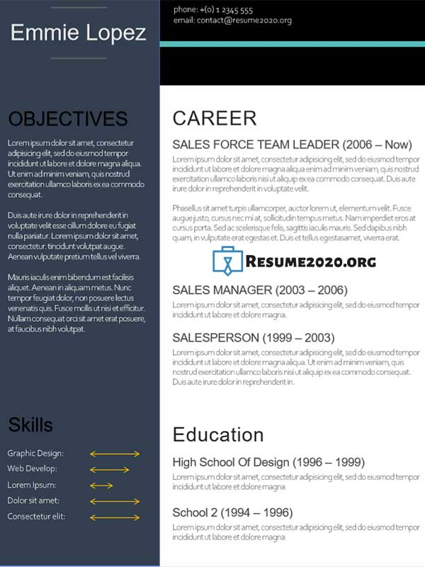 resume templates in docx