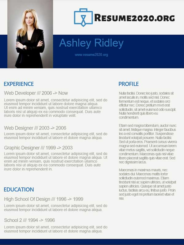 picture of resume for job