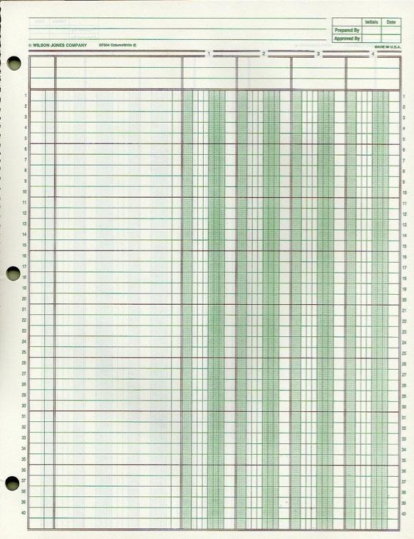 free ledger paper - Militarybralicious - free general ledger template