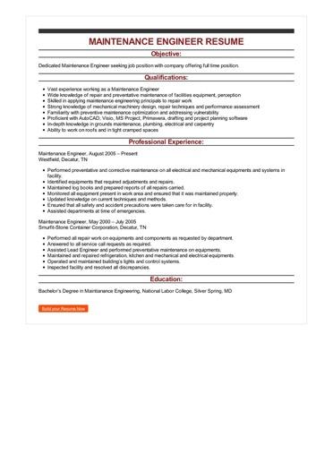 sample resume packaging engineer - Packaging Engineer Sample Resume