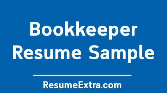 Bookkeeper Resume No Experience » ResumeExtra