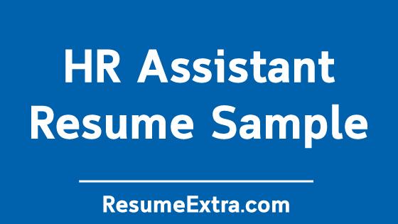 Sample Resume HR Assistant Achievements » ResumeExtra