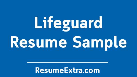 Professional Lifeguard Resume Sample » ResumeExtra