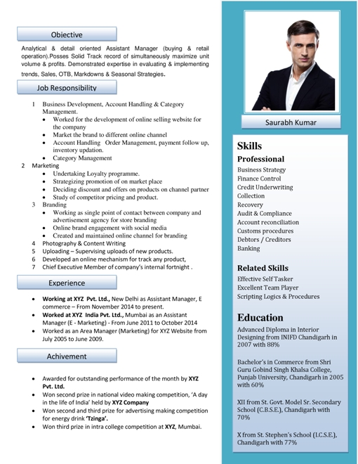 Resume Format Samples Download Free Professional Resume Format - impressive resume format