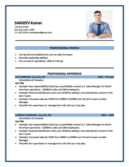 american attractive resume samples