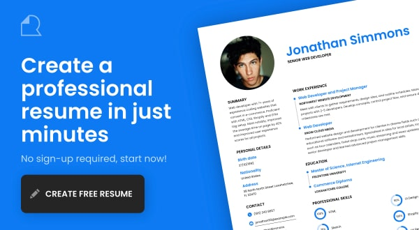 ResumeMakerOnline Design your resume for free, no sign-up required