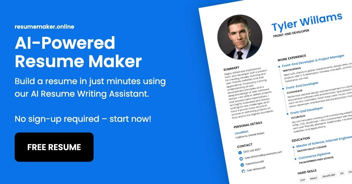 resume free maker online