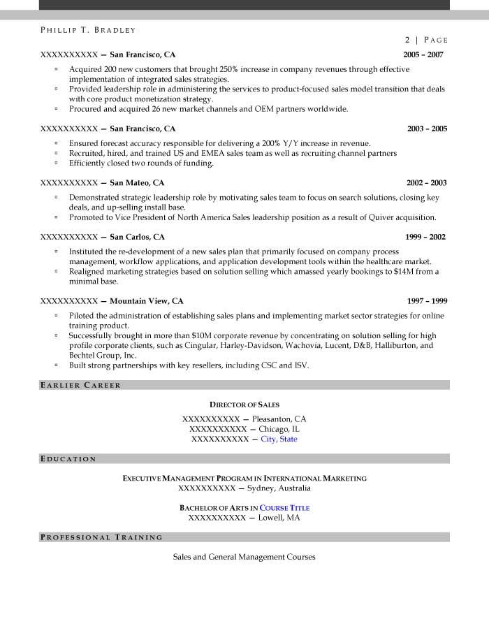 Executive Resume Samples - Resume Prime - vice president of sales resume