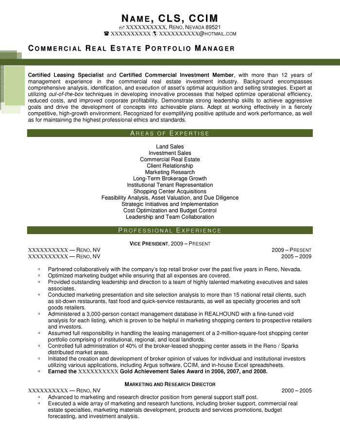 Executive Resume Samples - Resume Prime - real resume samples