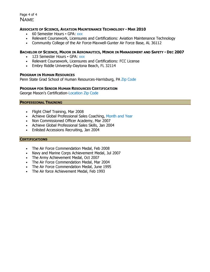 Free Federal Resume Sample from Resume Prime - human resources specialist resume
