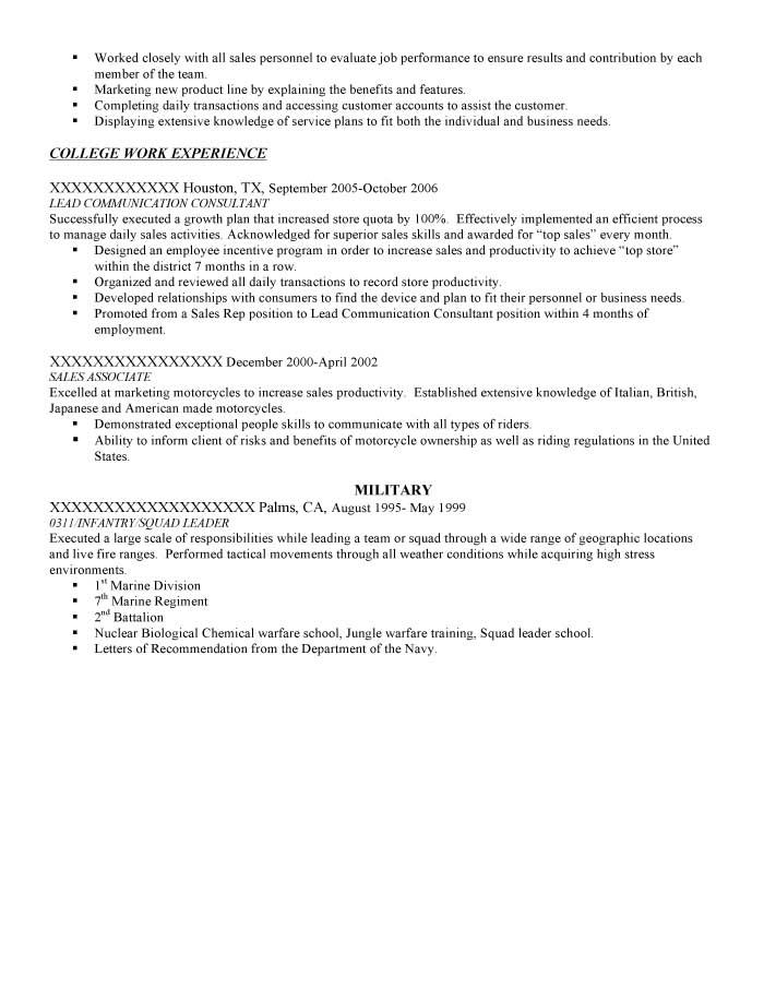 Military Transition Resume Samples - Resume Prime - weather clerk sample resume