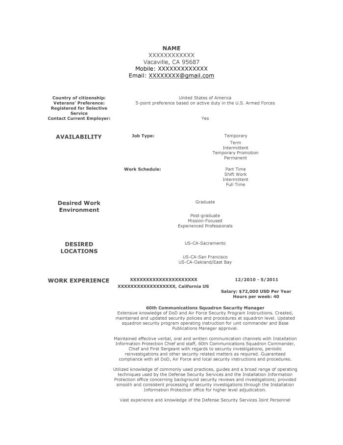 Military Transition Resume Samples - Resume Prime - Resume Sample 2014