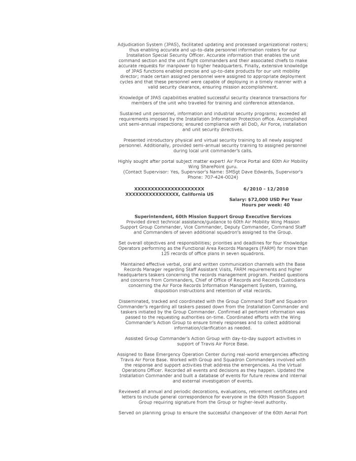 Military Transition Resume Samples - Resume Prime - Records Management Resume